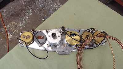 Back side of the rebuilt instruments and panel.