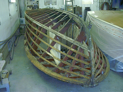 Front port view of side planks and bottom removed.