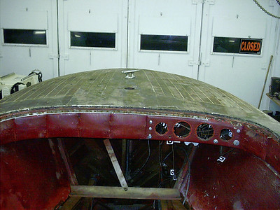 Front deck and instrument panel.