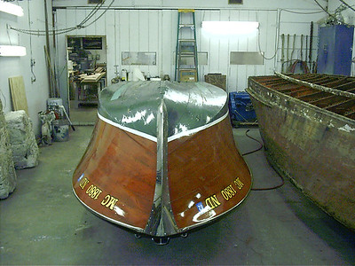 Front view of hull up side down.