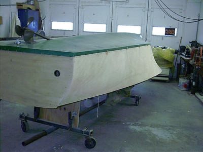 Rear port view of sanded plywood.
