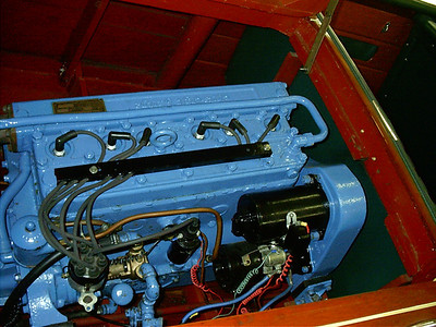 Top view of engine.