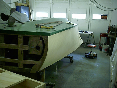 Fitting port side plywood.