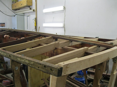 Two more new bottom frames installed.