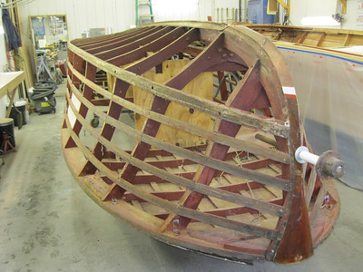 Front port view of planks removed.