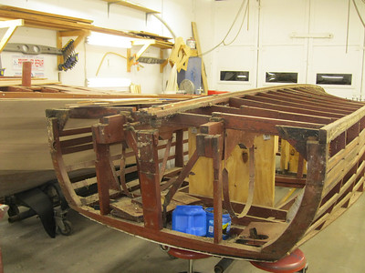 Transom bottom frame removed.