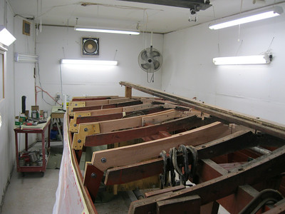 Port front view of new frames installed.