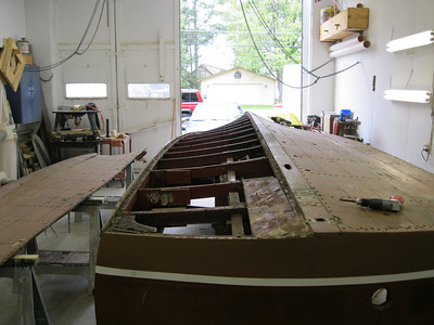 Starboard side bottom removed.