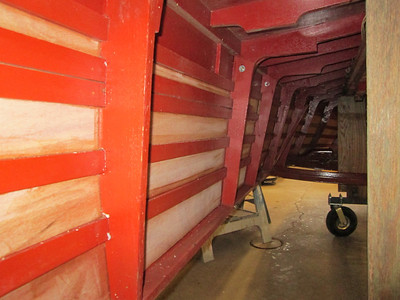 Pictures from inside the hull with the plywood installed.