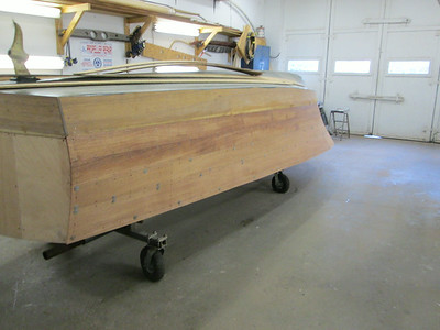 Rear view of second two port planks fit.