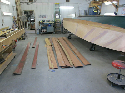 Sorting out the new side planks.