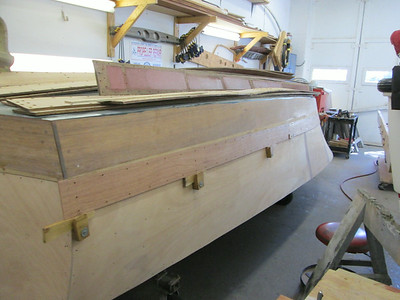 Rear port view of new plank fit.