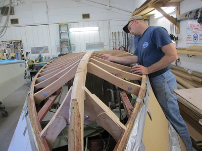 Another view of new frames being epoxied.