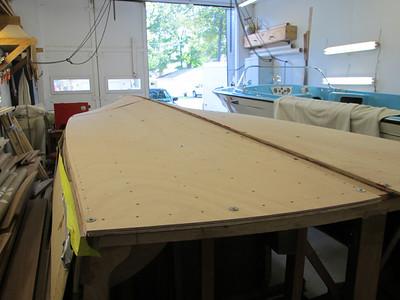 Rear starboard view of second layer fit.