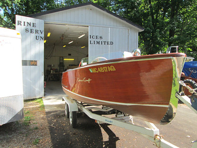 Starboard front view of a 1953 Sportsmen.