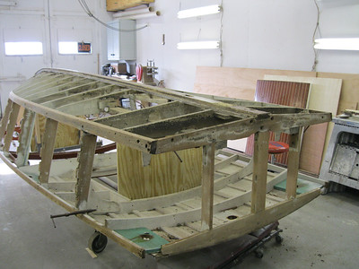 Old starboard rear corner removed.