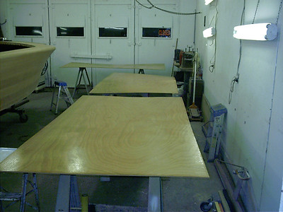 Coating the inside of the plywood with West System epoxy before the plywood is applied to the sides.
