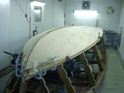 Starboard second layer glued in place.