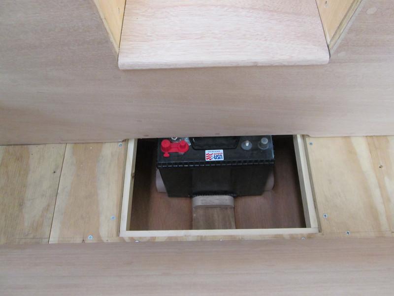Battery access open.
