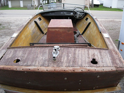 Rear deck and interior.