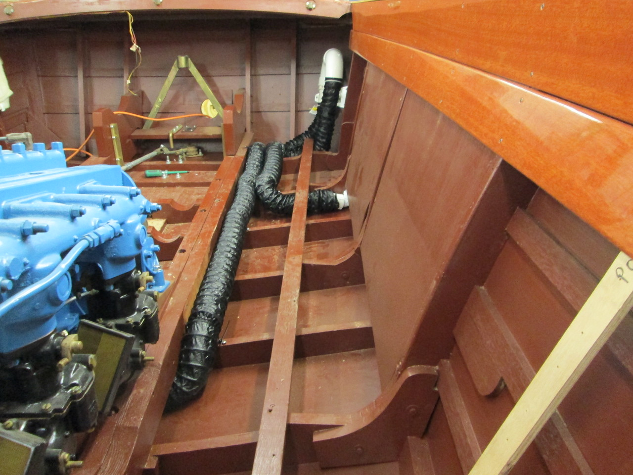Another view of the bilge blower set up.
