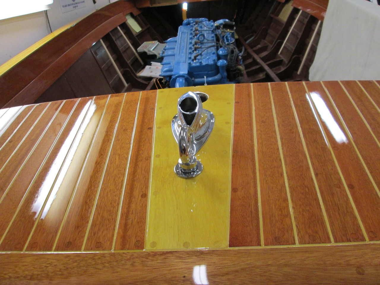 Rear lifting eye and stern light mount install so we could wire the stern light.