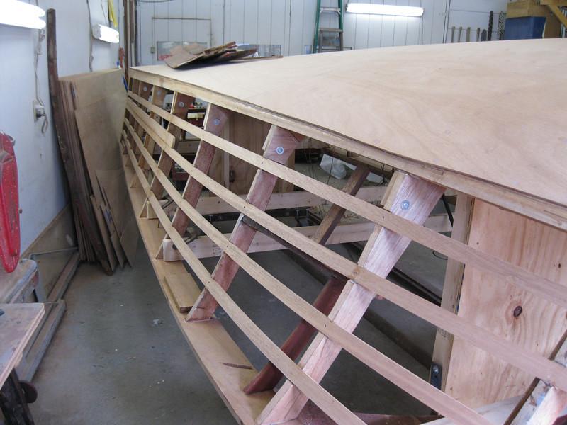 New port side battens installed.