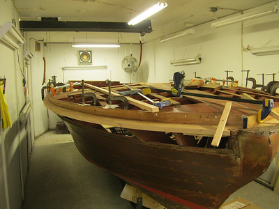 New outside starboard bow deck framing installed.