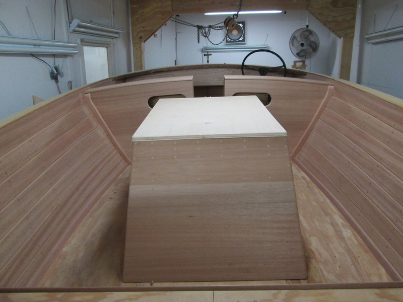 Inside view of finished wood work.