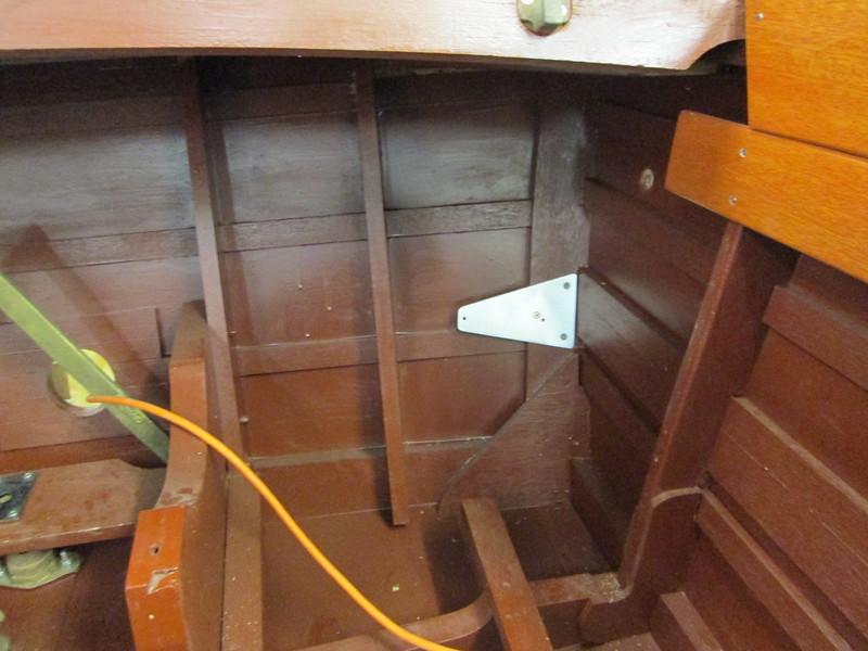 Fabricated bilge blower mount.