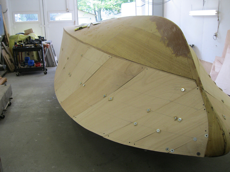 Plywood fit on the port side.