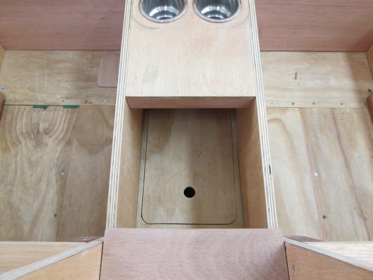 Front bilge pump access panel.