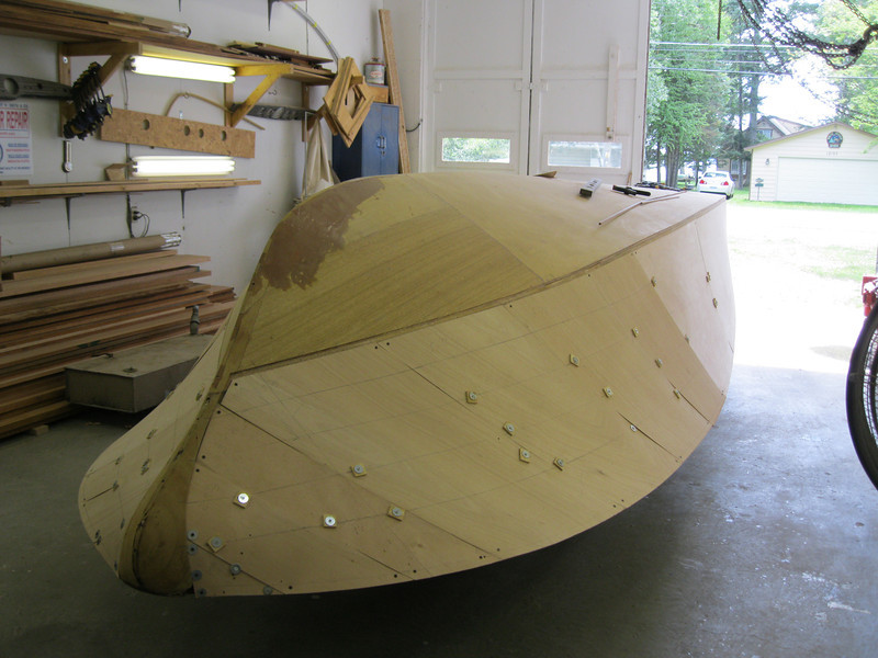 Plywood fit on the starboard side.