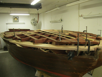 Front strboard view of bow plate replaced.