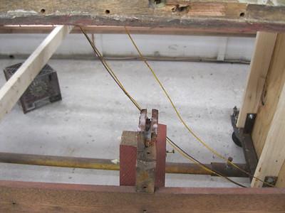 Splicing new side frame ends.