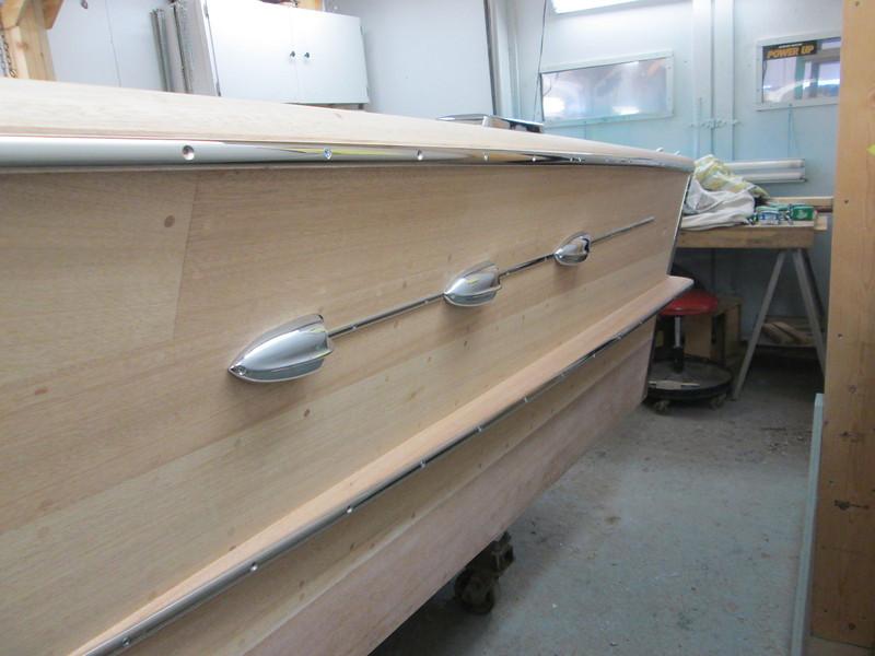 Port side view of ventilators installed.