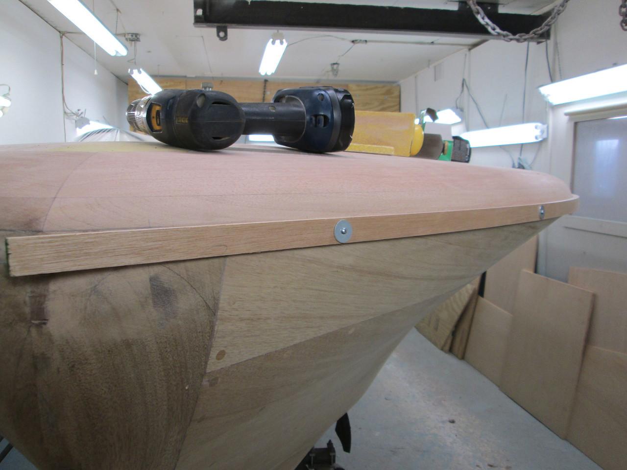 Front port rub rail cleat fit.