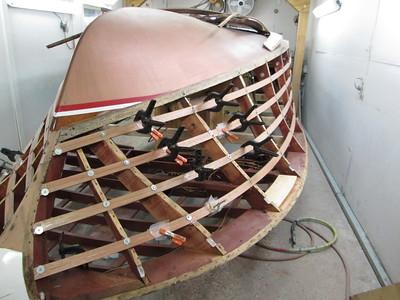 New starboard side battens installed.