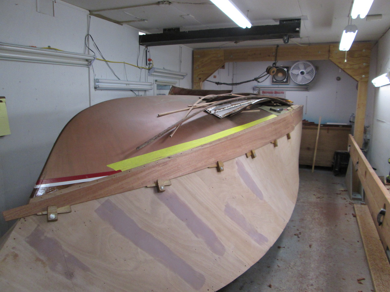 First starboard plank fit.