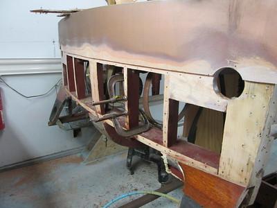 Old transom planks removed.