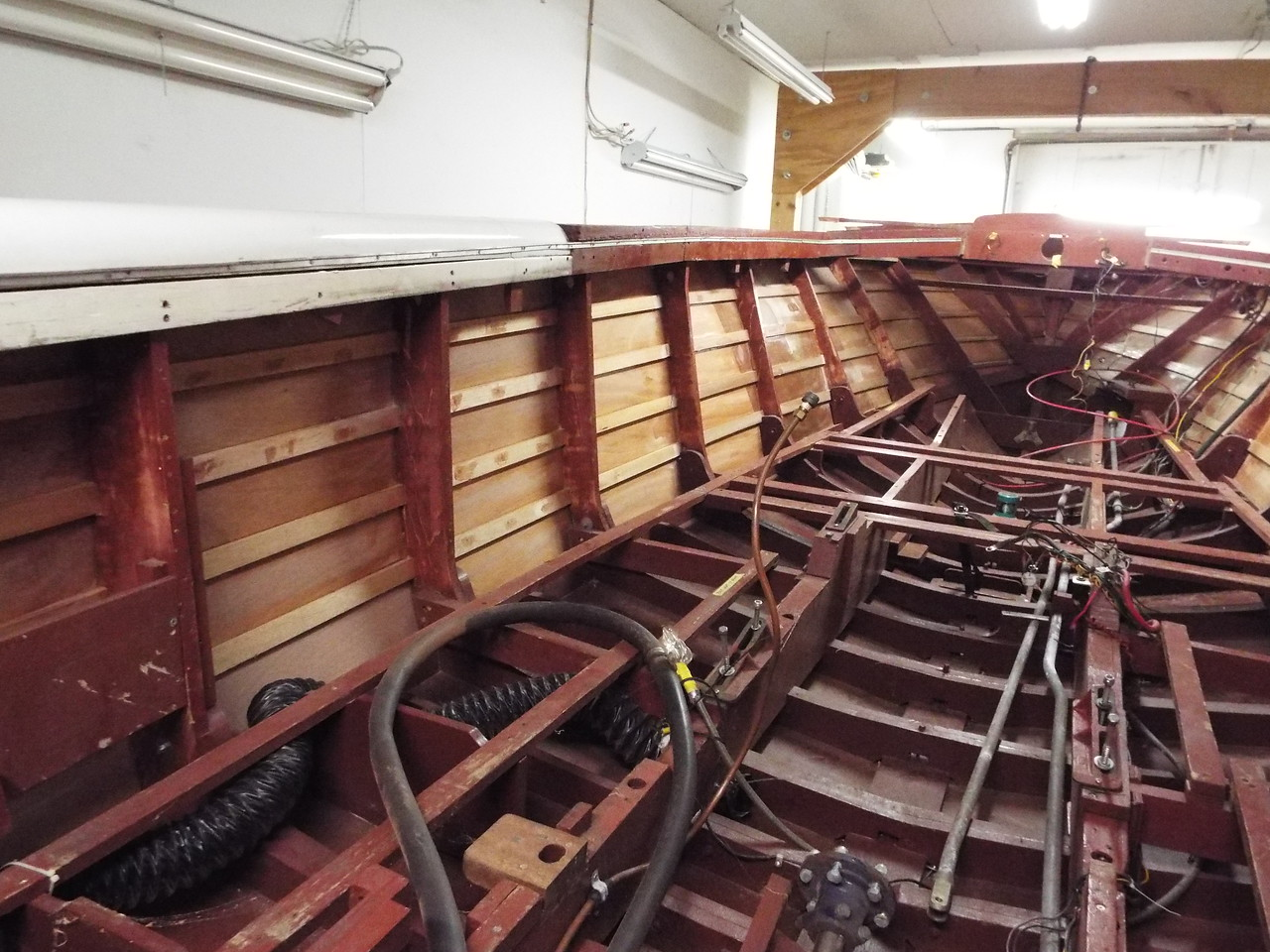 Inside view of the port side looking forward.