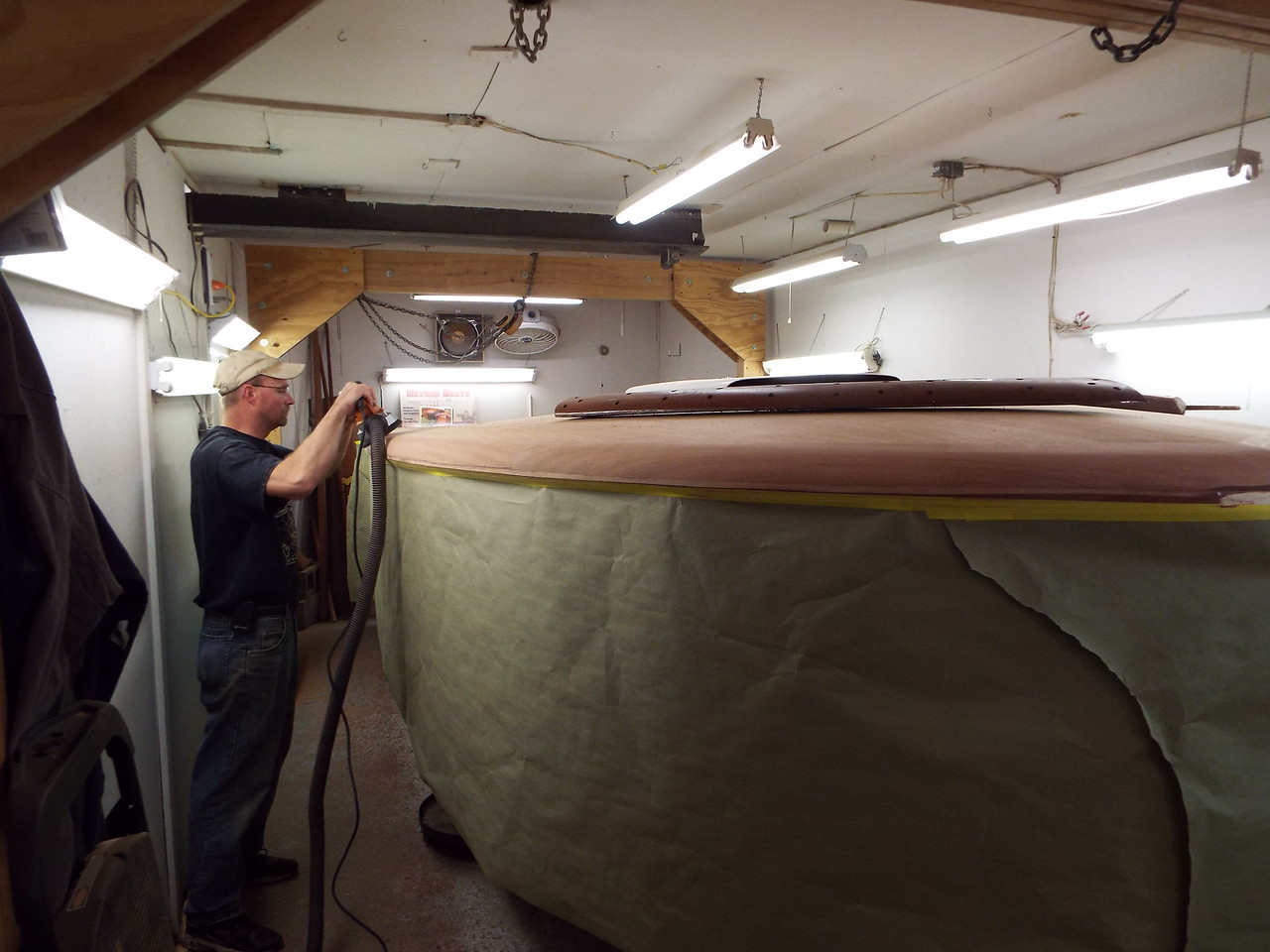 More shaping being done to the starboard cover board.