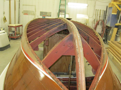 View from the bow with the bottom removed.