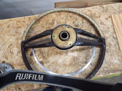Steering wheel back side.