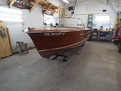 1960 18 ft Chris Craft Continental. I the shop 06/18/2020.