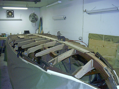 Front view of new keel installed.