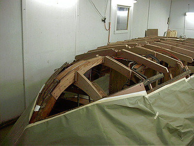 Starboard front view of new brest hook.
