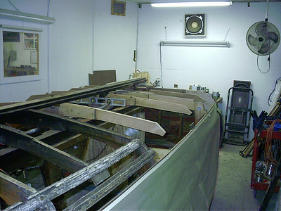 Starboard view of new frames.