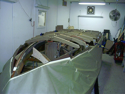 Starboard front view of new frames.