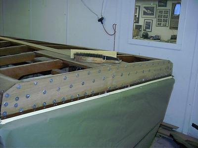 New transom bottom plank installed.